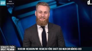 Trading Direkt 2019-02-01: ELECTROLUX STIGER TVÅSIFFRIGT & USA JOBBRAPPORT