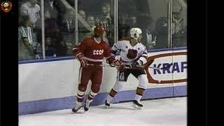 ХОККЕЙ *РАНДЕВУ 1987*  2 матч  *СССР-НХЛ*  (Фетисов,Ларионов,Макаров,Крутов+Гретски и Марио Лемье)