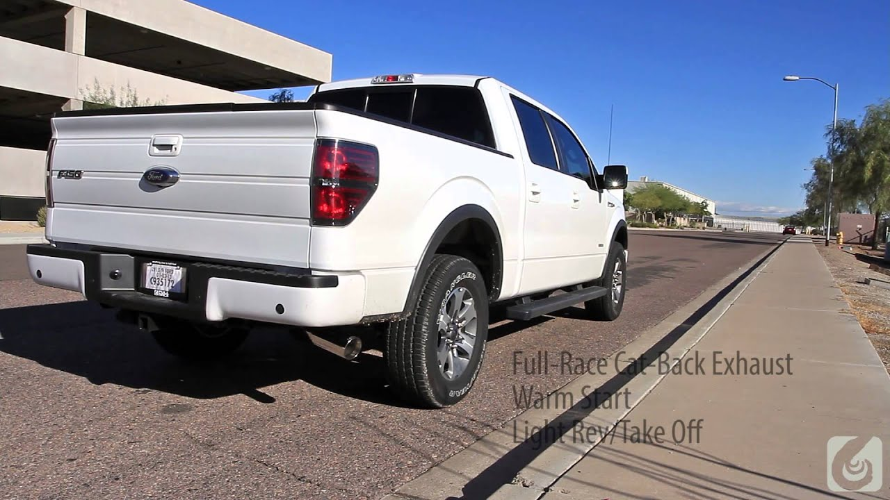 full race 2011 ford f 150 ecoboost 3 inch exhaust system youtube. Black Bedroom Furniture Sets. Home Design Ideas