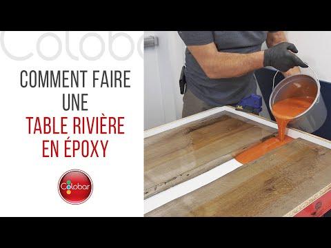 Comment faire une table rivière en époxy
