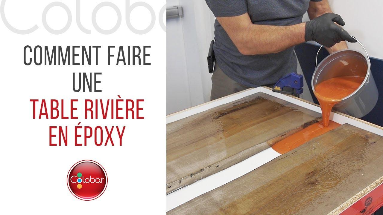 comment faire une table riviere en epoxy