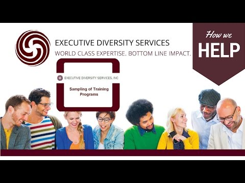 Services offered by Executive Diversity Services
