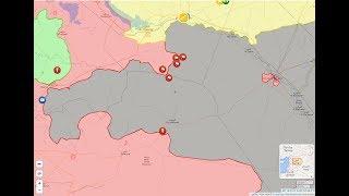 16 июля 2017. Военная обстановка в Сирии - смотрим карту в прямом эфире. Начало - в 21.35.