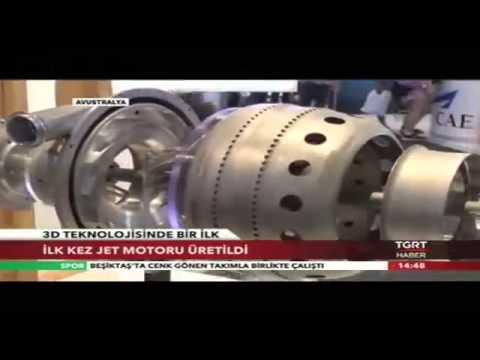 3D Yazıcı ile Jet Motoru Üretildi