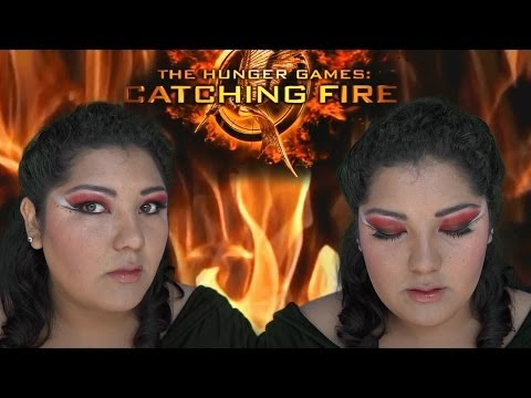 los-juegos-del-hambre-+-katniss-everdeen-+-maquillaje-de-noche-rojo