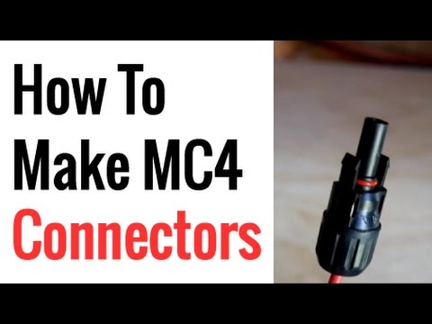 How To Make/Crimp MC4 Connectors