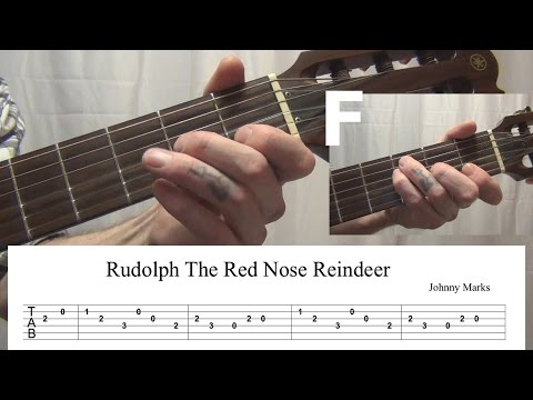 Rudolph the Red Nosed Reindeer Guitar Tab