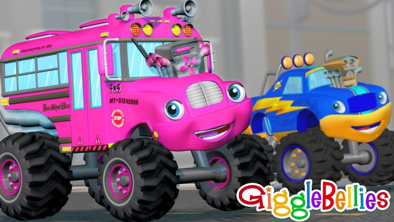 Wheels on the Bus, Monster Truck - BEST Nursery Rhymes, Children Songs, Toddler Songs, Fun Kid Songs