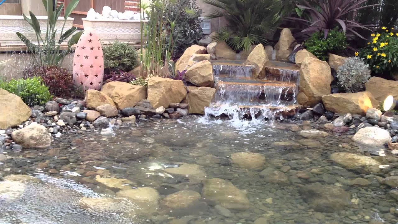 Estanque y cascada mydjardines youtube for Estanque cascada