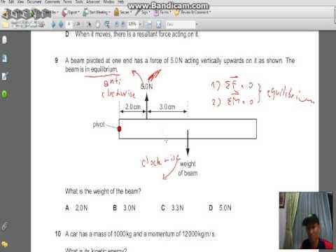 physics igcse p2 2016specimen problem 8-10