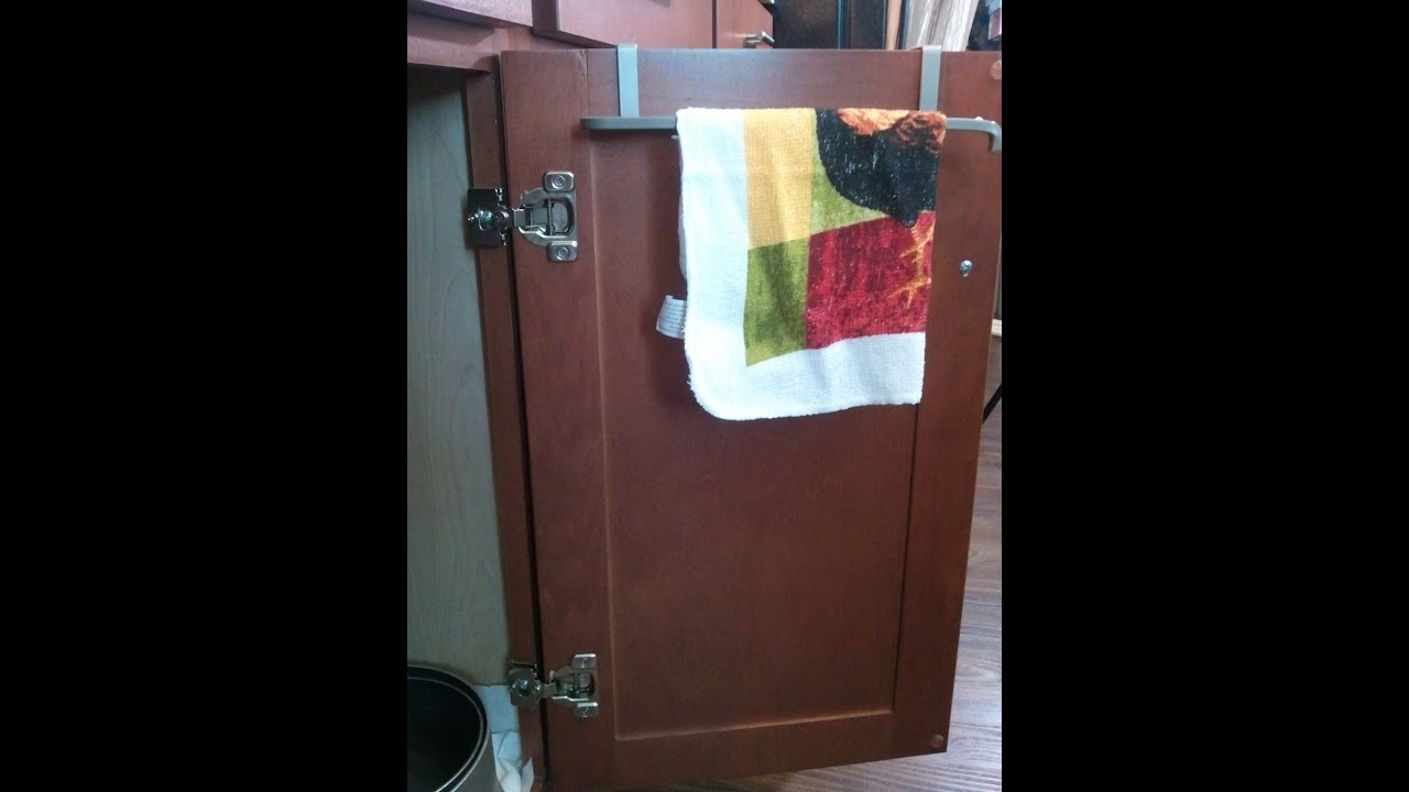 How To Organize Cheap Under Sink Cabinet Towel Bar 4
