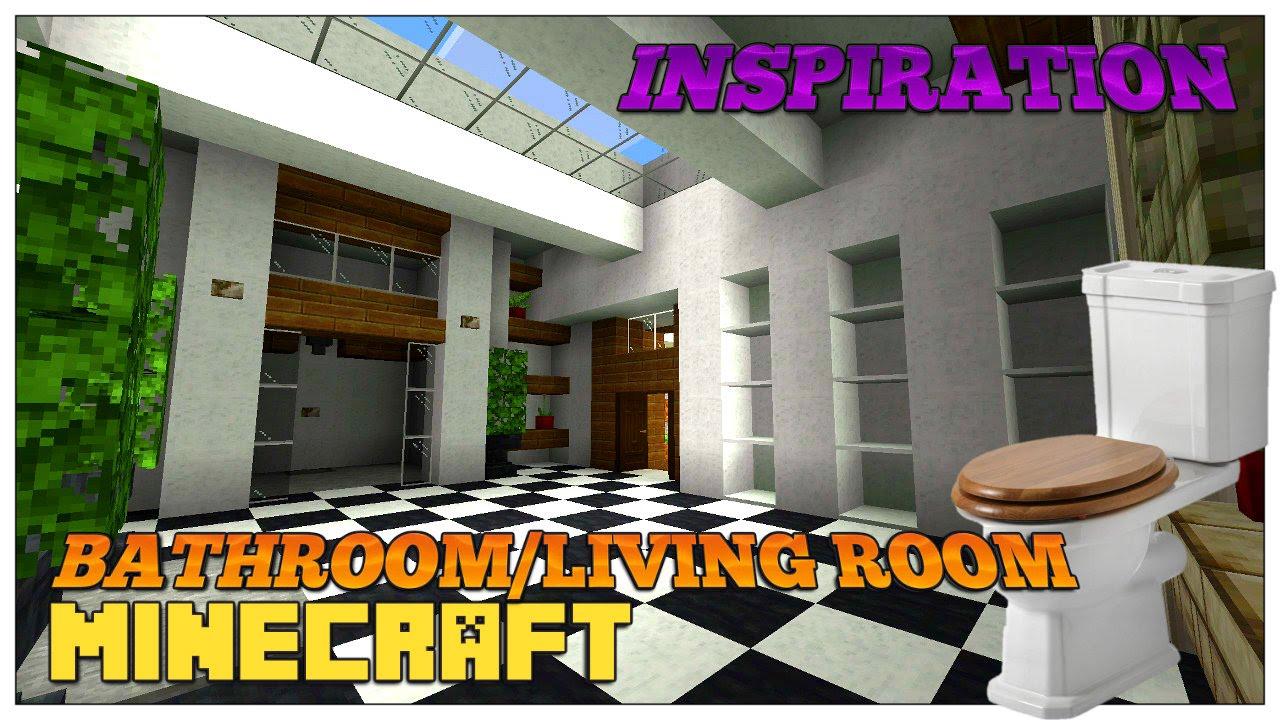 Minecraft Living Room And Bathroom Inspiration Design Ideas 2016