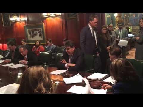 Sen. John DiSanto speaks against unemployment compensation funding fix bill