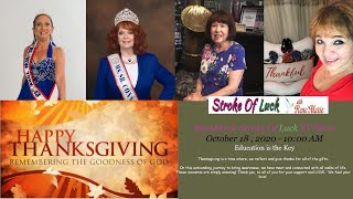 Education is the Key - ReneMarie Stroke Of Luck TV Show October 18 , 2020, 10:00 AM
