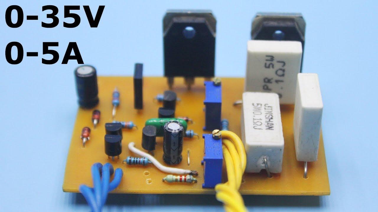 hight resolution of adjustable power supply 0 35v 0 5a