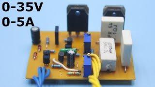 Adjustable power supply 0-35V 0-5A