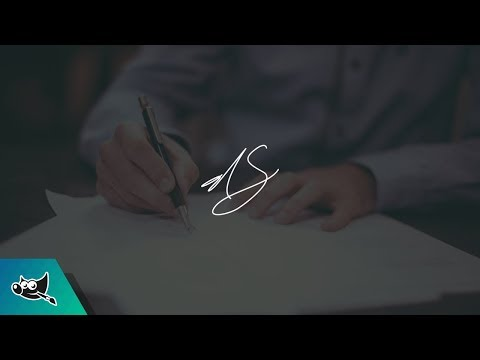GIMP Tutorial: Use Your Signature as a Watermark