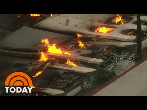 Fire Engulfs Amazon Warehouse In California; No Injuries Reported | TODAY