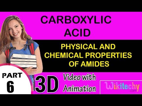 Physical and Chemical Properties of Amides Carboxylic acid class 12  chemistry subject cbse