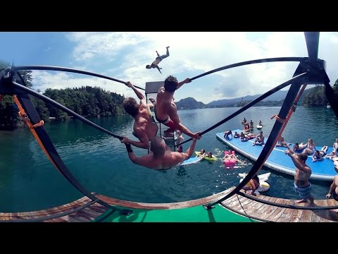 Russian Swing Flips - Behind the Scenes 360 Video | PEOPLE ARE AWESOME