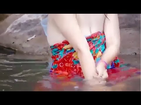 Wow!Beautiful Girl Take a Bathing in River/Home video tube/watch more thumbnail