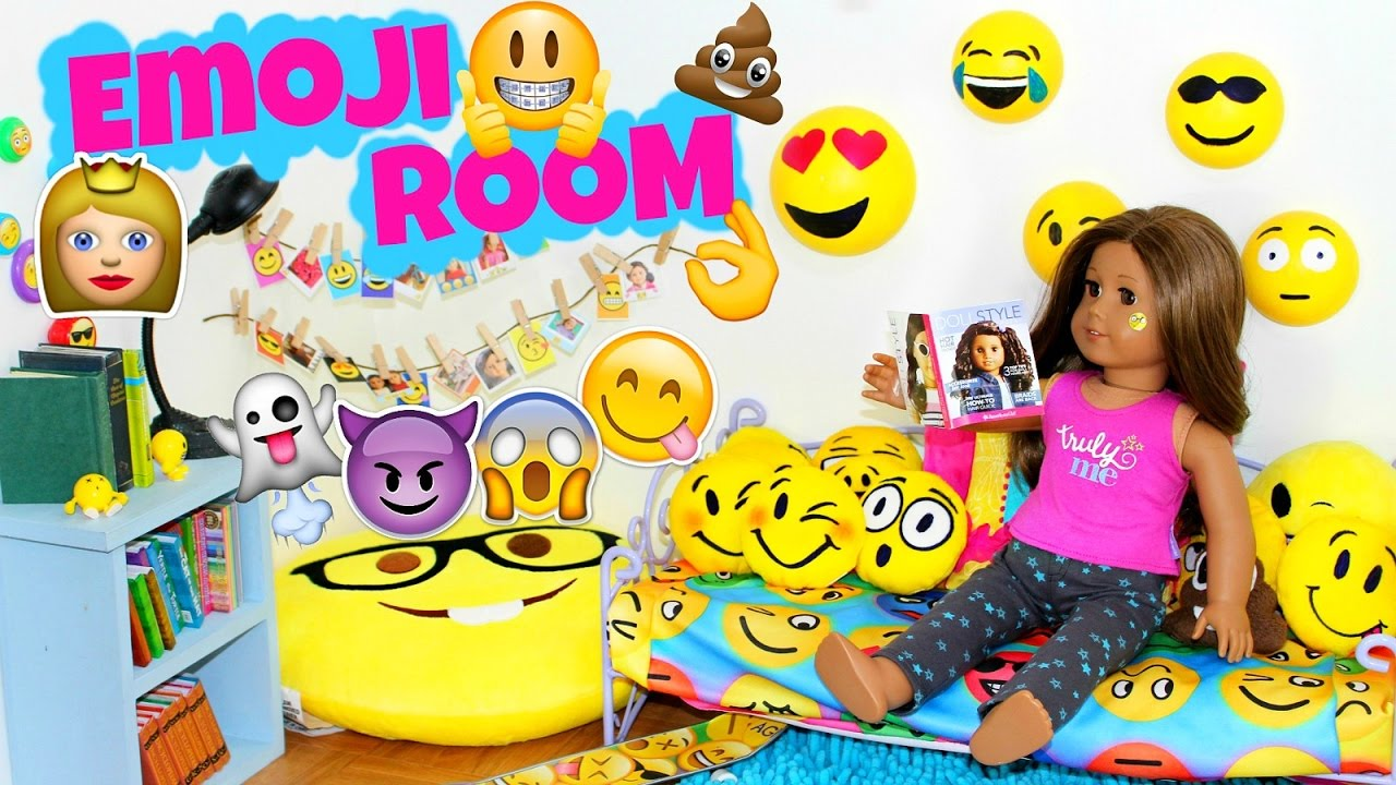 American girl doll emoji bedroom youtube for Emoji bedroom ideas