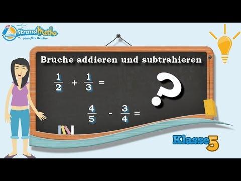 Brüche addieren und subtrahieren || Bruchzahlen - Klasse 5 ★ Wissen