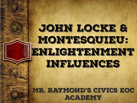 John Locke and Baron de Montesquieu: Influencing the Founding Fathers