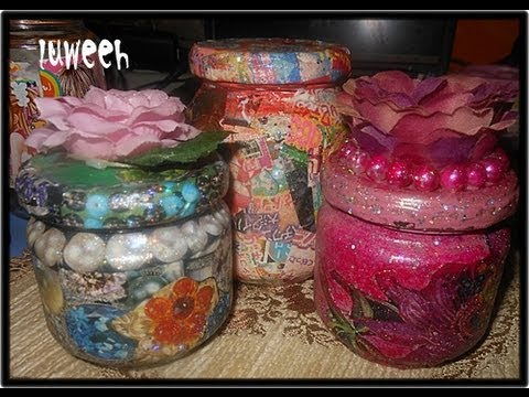 Magazinez and glass jar craft ideas youtube for Crafts using glass jars