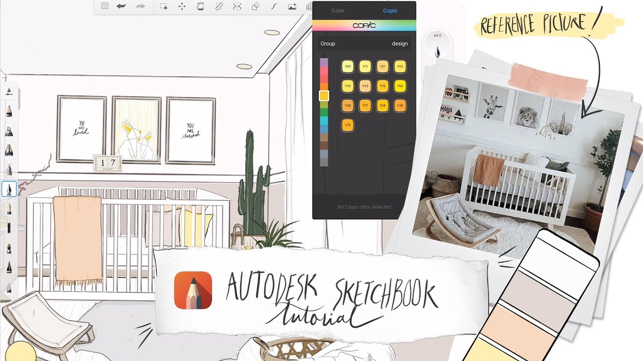 Autodesk Sketchbook On Ipad Pro Tutorial Sketch A Space With Me Youtube