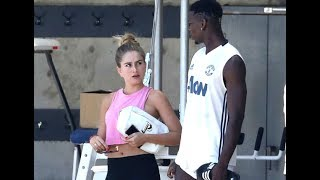 Who is this sexy lady with Manchester United star Paul Pogba?