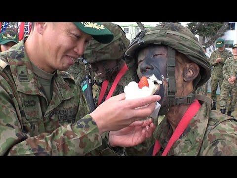 自衛隊の3カ月のレンジャー養成訓練終わる 福島