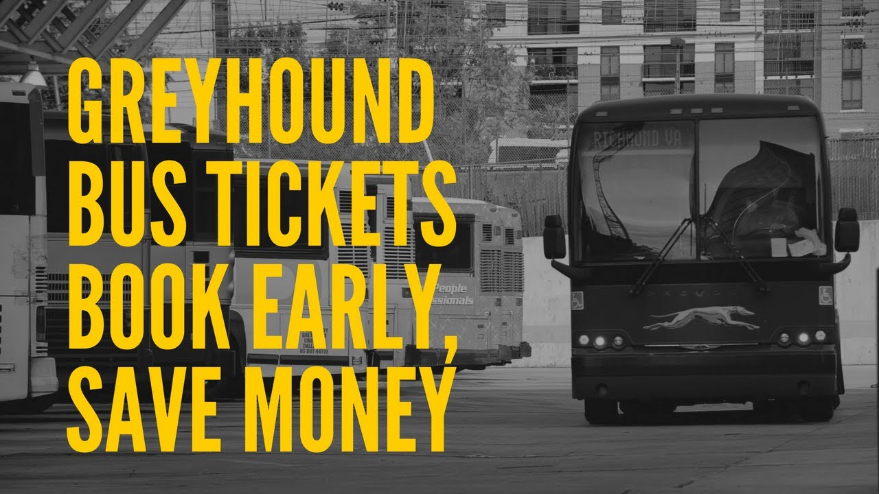 Save Money By Booking Your Greyhound Bus Ticket Early!