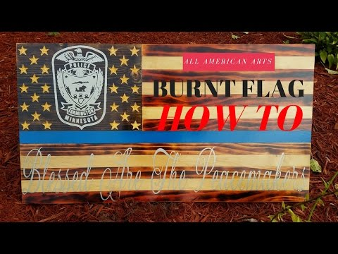 Burnt & Stained Flag Part 1 of 2