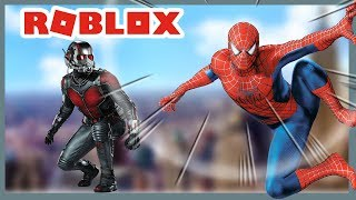 ROBLOX INDONESiA | When SPiDERMAN FIGHTS ANT-MAN 😂