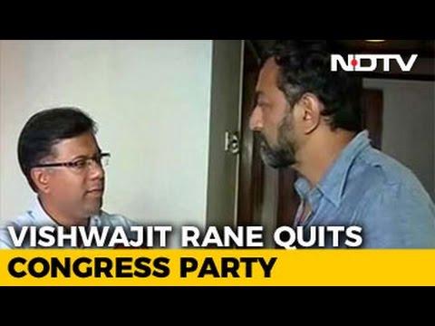Goa Congress Legislator Vishwajit Rane, Missing From Trust Vote, Quits Party