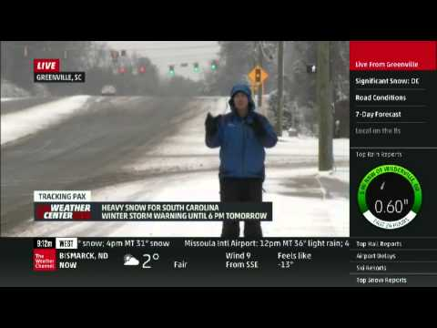 Mike Seidel The Weather Channel Greenville, SC Robotic Snowplow #2  2-12-2014