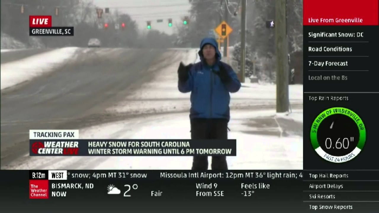 mike seidel the weather channel greenville  sc robotic