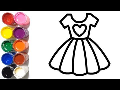 Menggambar Dan Mewarnai Gaun Putri Dengan Cat Air Youtube