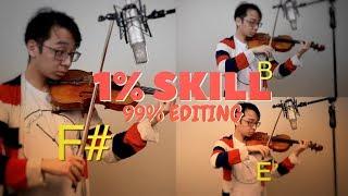 1% Violin Skills 99% Editing Skills thumbnail