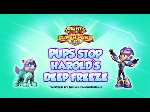 Видео: Mighty Pups,Super Paws:Pups Stop Harold's Deep Freeze