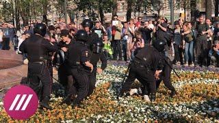 Видео массовых задержаний на Пушкинской площади