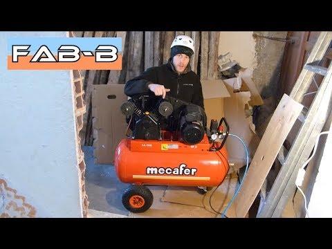 compresseur mecafer lt 100 3cv bicylindre pr sentation et mise en route youtube. Black Bedroom Furniture Sets. Home Design Ideas
