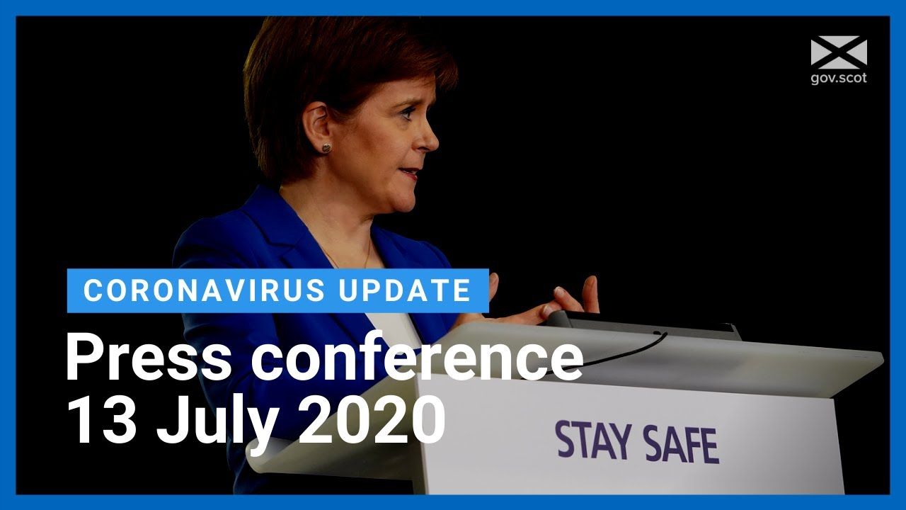 Coronavirus update from the First Minister: 13 July 2020