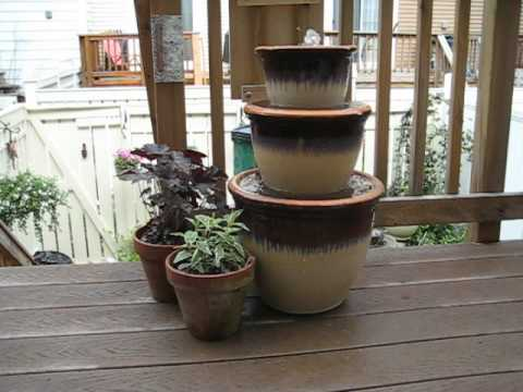 diy water fountain for deck youtube