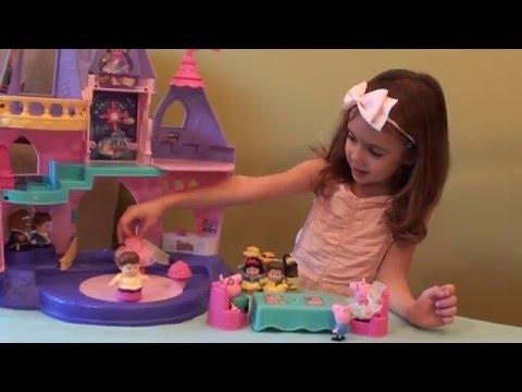 Peppa Pig and Princesses Playtime Story with Fisher-Price Disney Princess Princess Castle