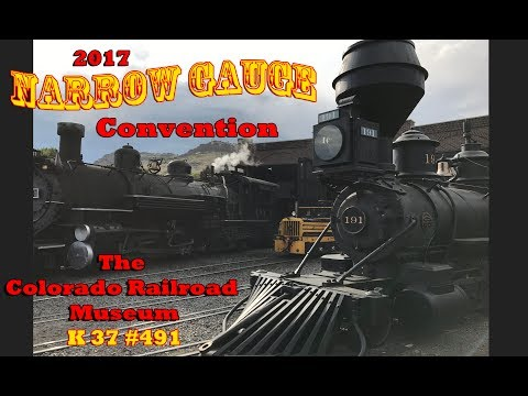 Colorado Railroad Museum - Cab ride on K37 #491 - 2017 Narrow Gauge Convention