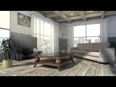 Create a interior scene in blender cycles