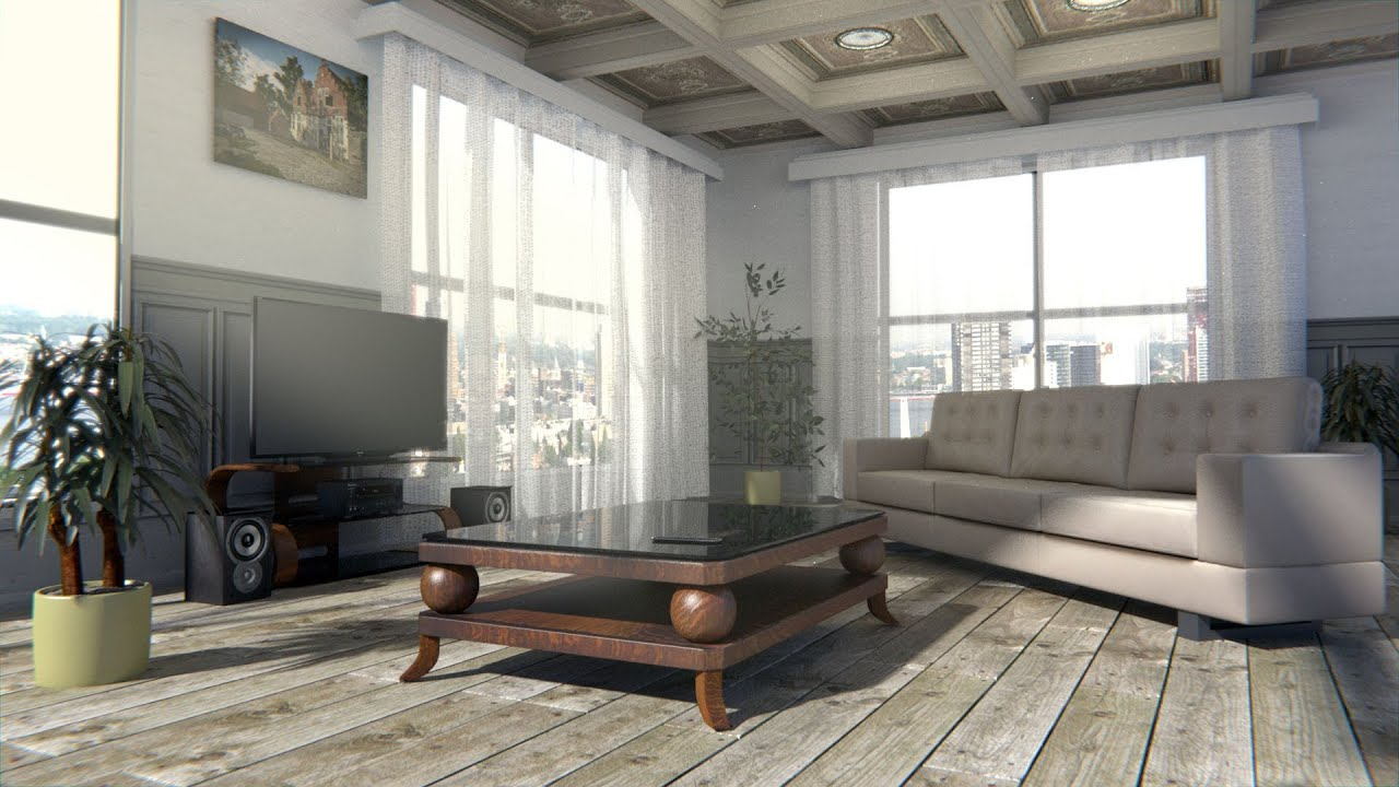 Create a interior scene in blender cycles youtube for Interior design