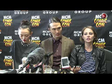 Arrow Panel Interview - Karl Yune, Willa Holland and Rila Fukushima at MCM